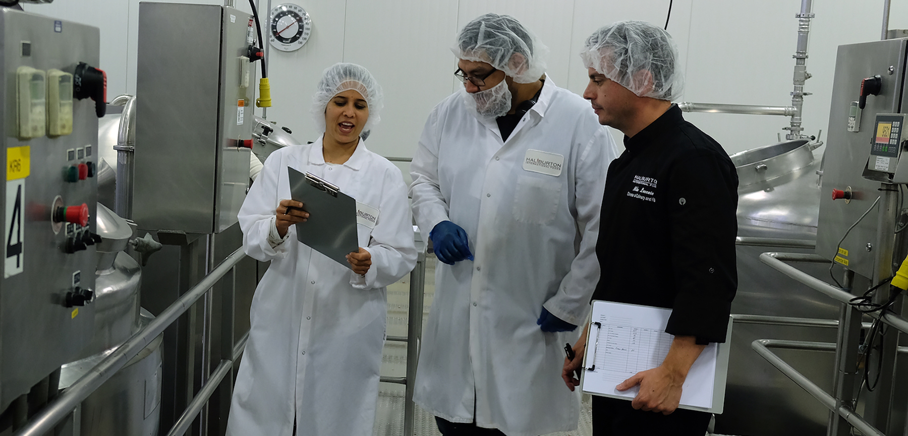 Haliburton Commercialization team conducting new product trials