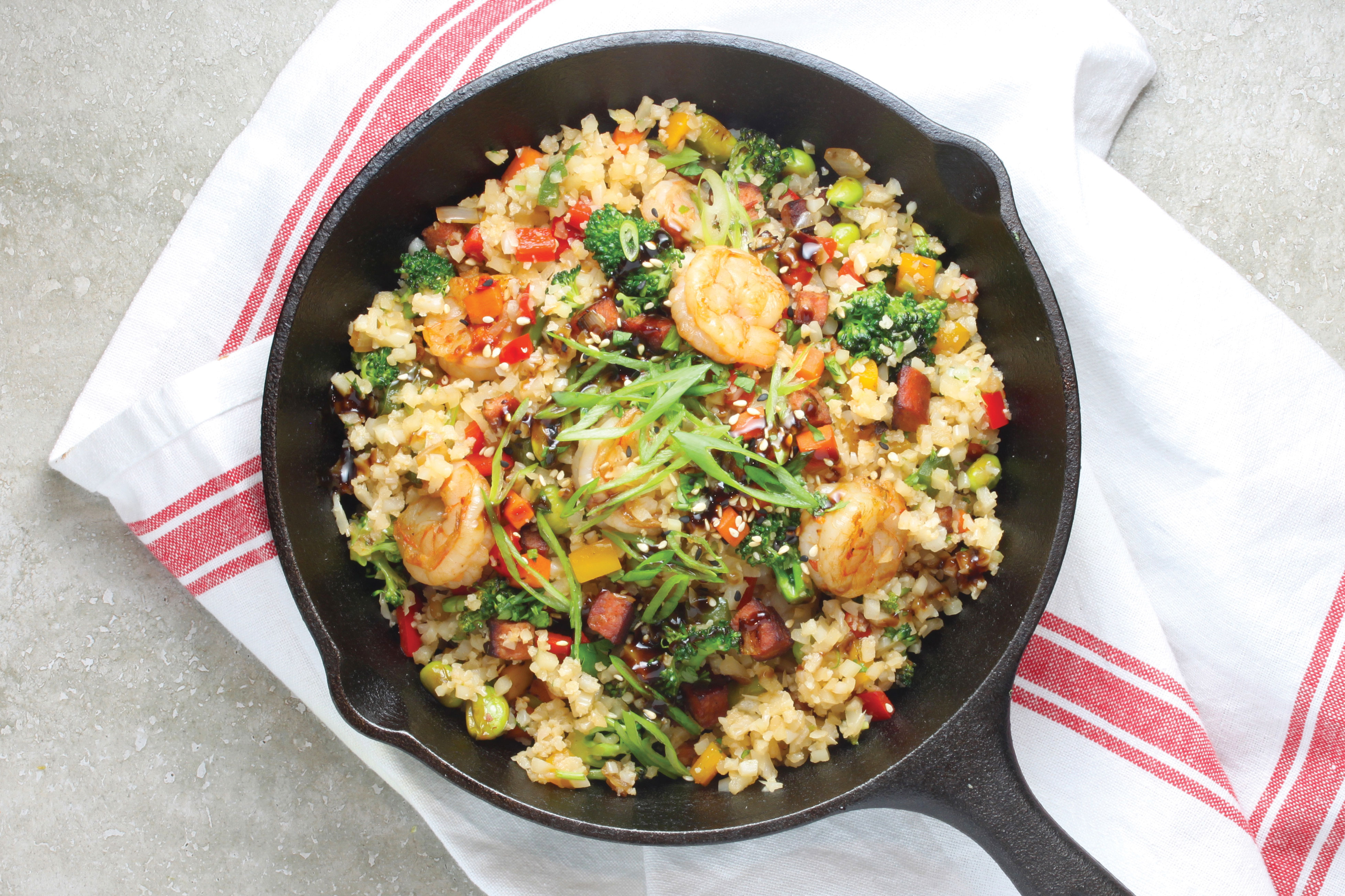 Shrimp and Chinese Sausage Fried Rice