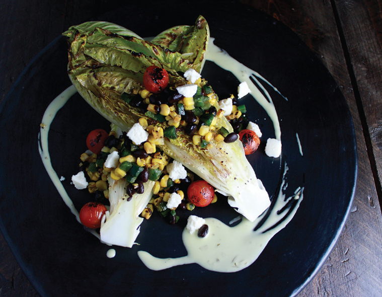 Fire Grilled Corn & Grilled Romaine Hearts