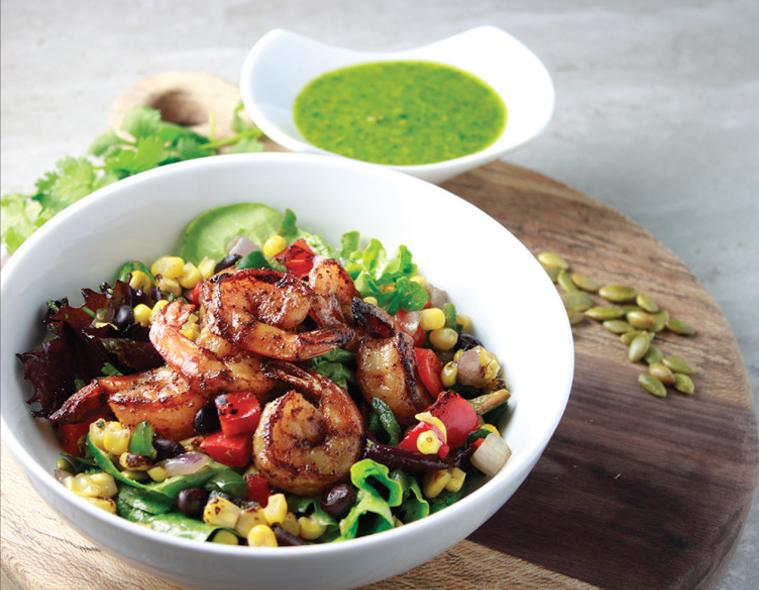 Southwest Shrimp & Fire Roasted Corn Salad