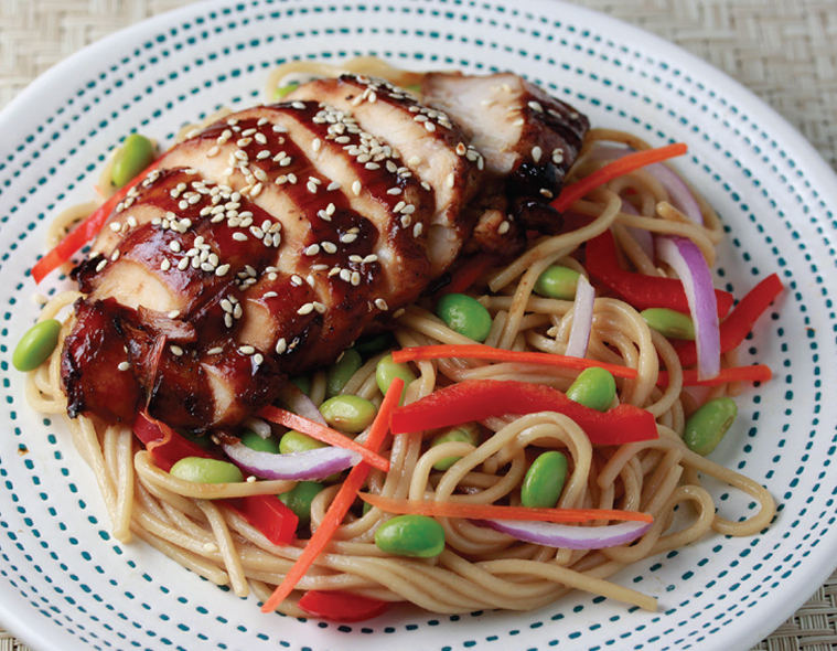Sesame Chicken with Edamame