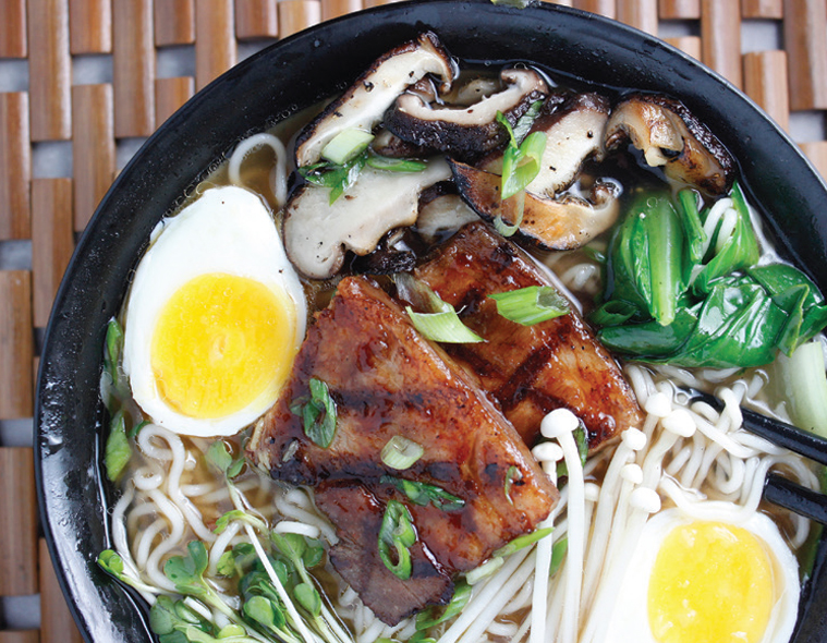 Pork Belly and Oven Roasted Mushroom Ramen
