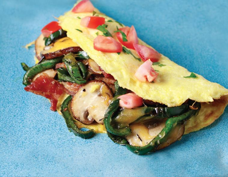 Poblano Fajita Omelette