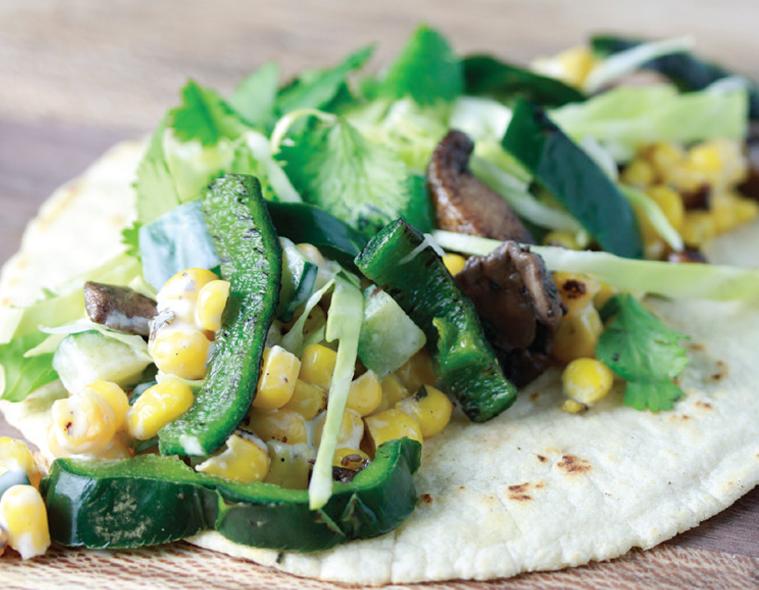 Creamy Corn & Poblano Taco