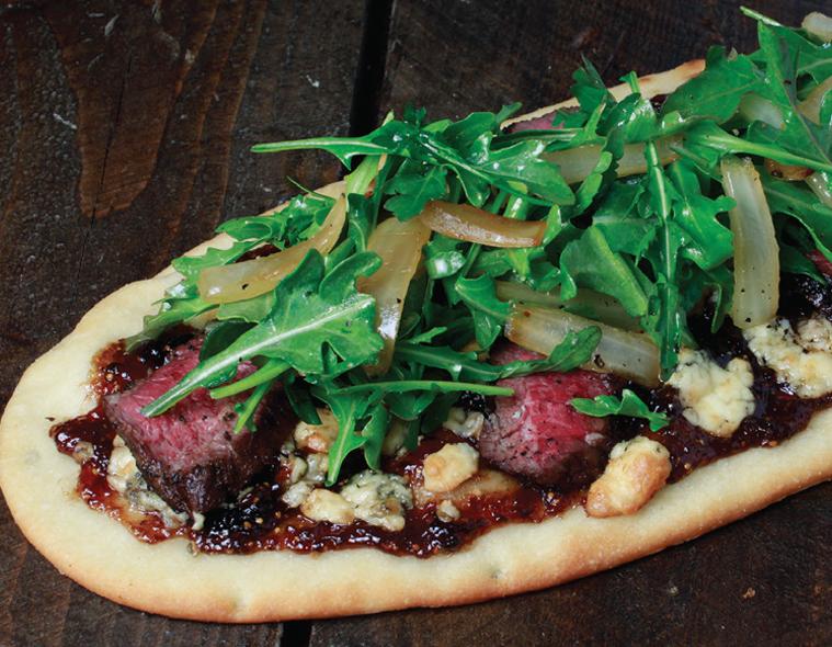 Steak, Bleu Cheese & Caramelized Onion Flatbread