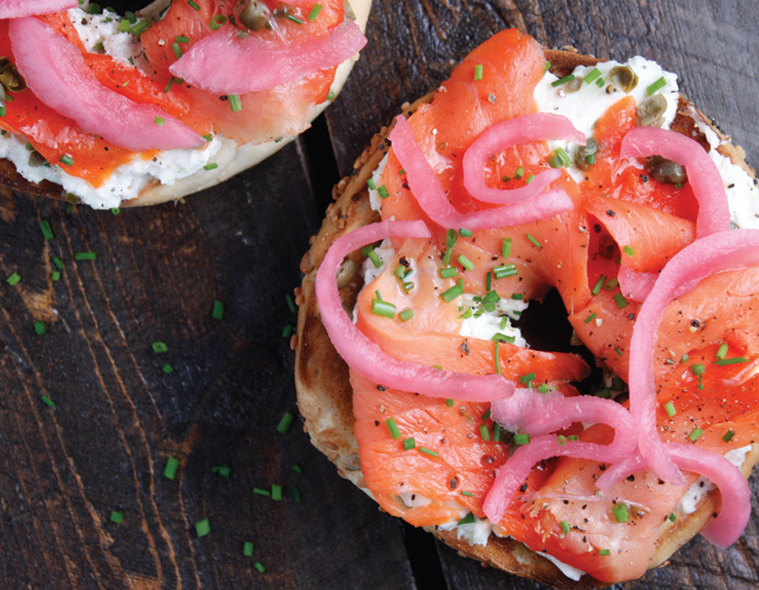 Lox & Bagel with Pickled Red Onions