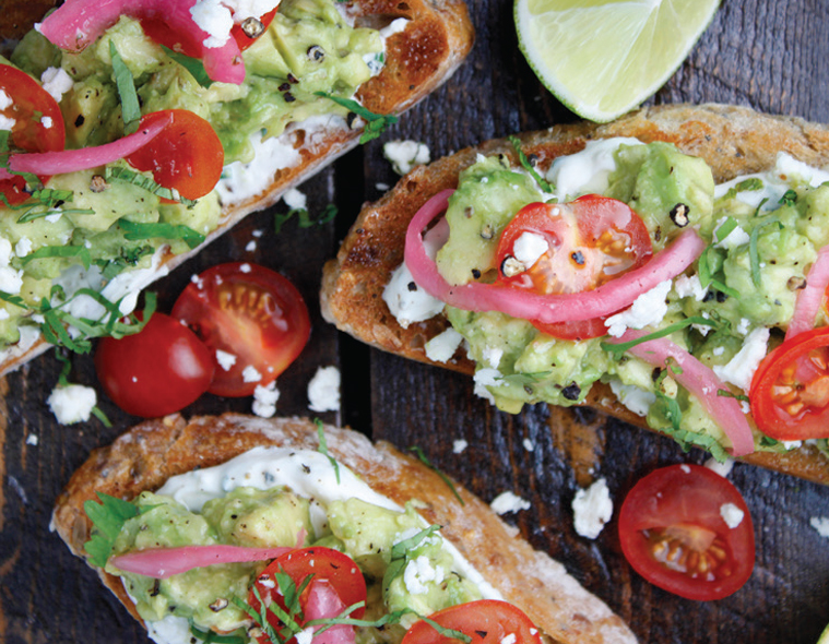 Avocado Toast with Citrus Pickled Red Onions