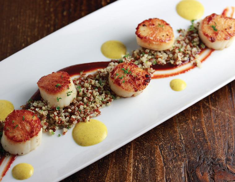 Seared Sea Scallops with Red Quinoa
