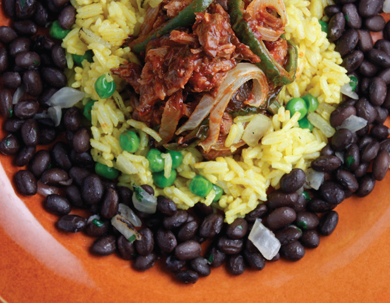 Ropa Vieja with Cuban Black Beans