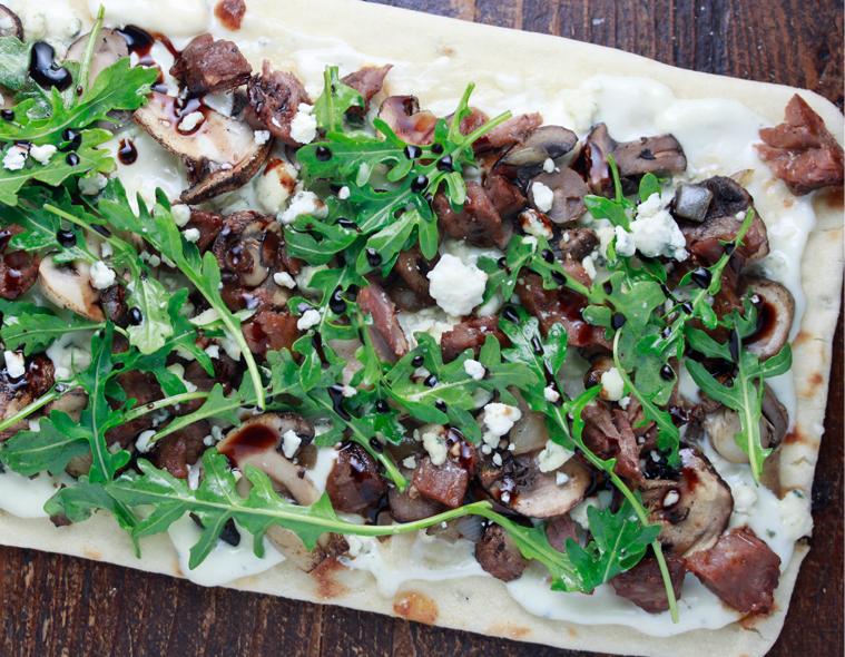 Mushroom and Arugula Flatbread