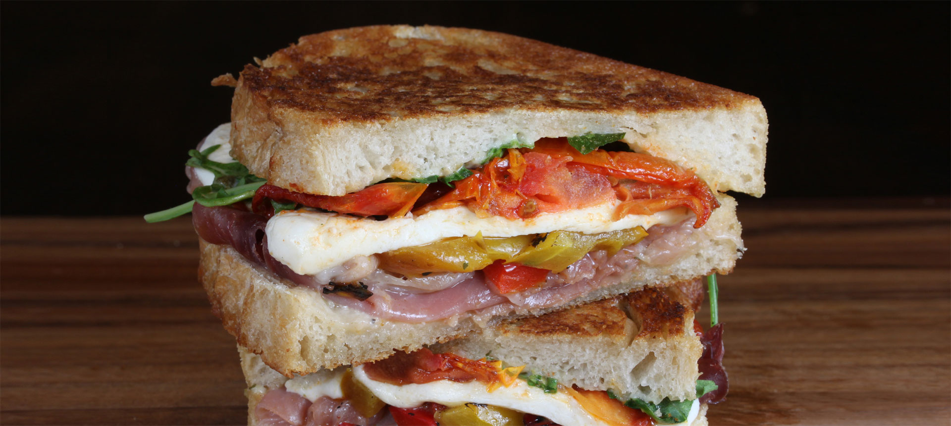 Featuring Haliburton Slow Roasted Tomato, Roasted Bell Pepper Blend, Herb Aioli